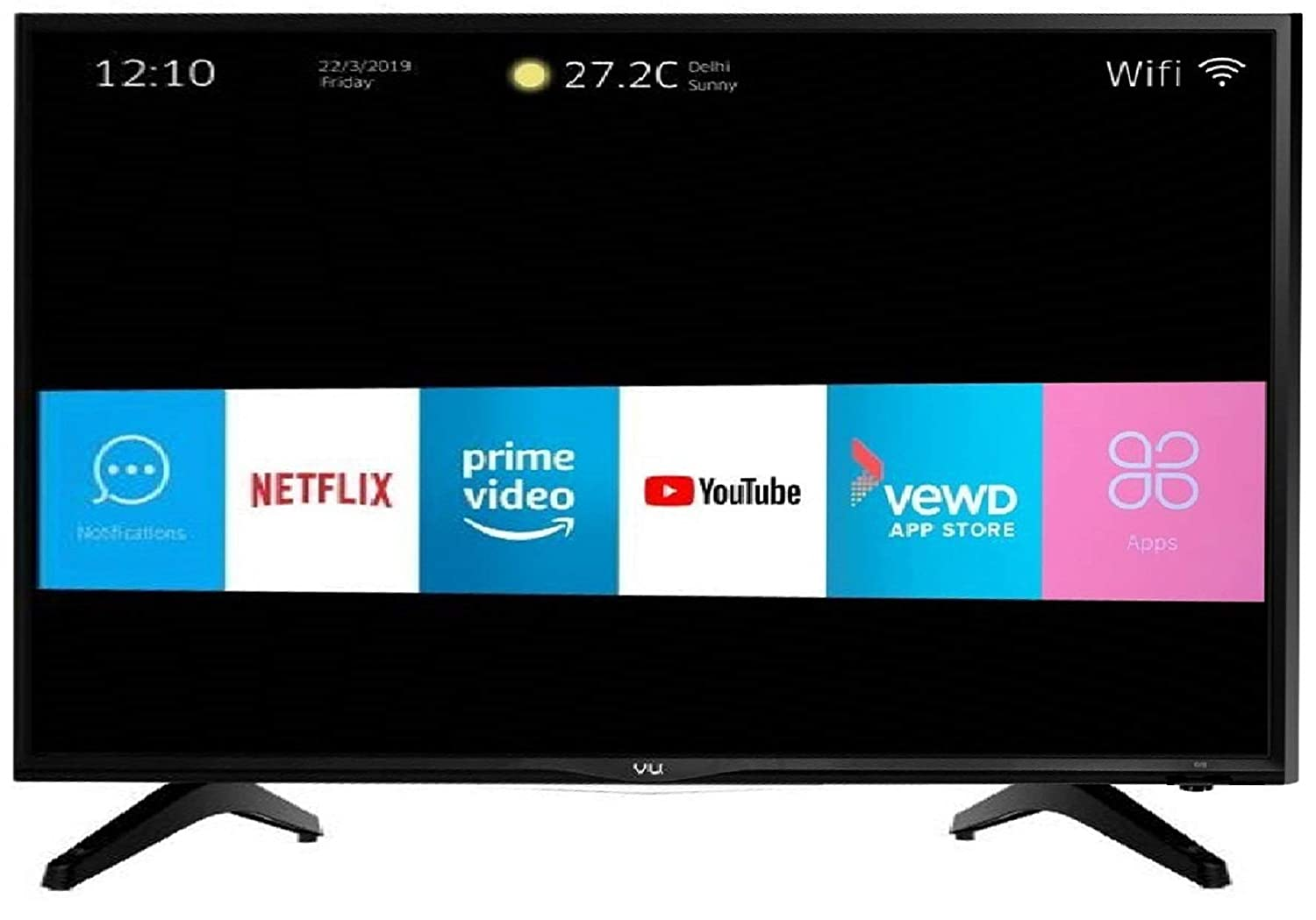 VU 123 cm (49 Inches) Full HD Smart LED TV 49 PL (Black) (2019 Model)