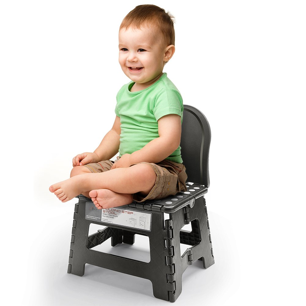 Amazon Com Folding Step Stool With Back For Children