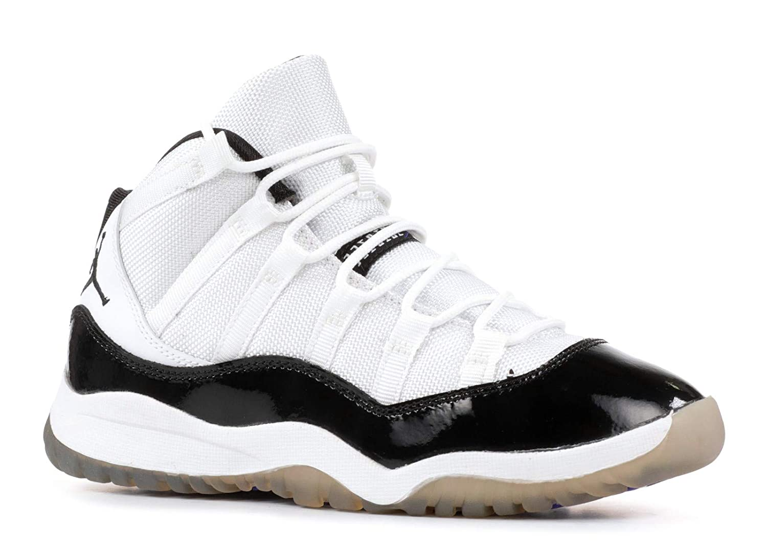 online store bc552 edf96 Amazon.com  Nike Air Jordan 11 Retro (PS) Concord Little Kids Basketball  Shoes  378039-107  White Black-Dark Concord Boys Shoes 378039-107  Shoes