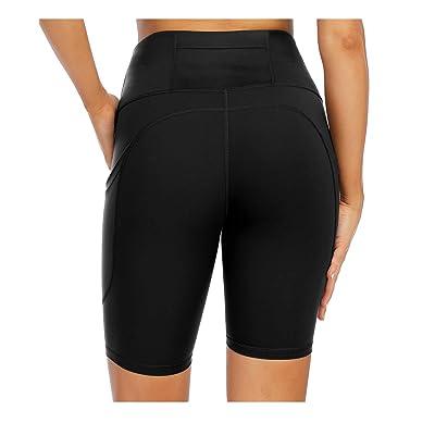 XIEERDUO Womens 8 High Waist Biker Shorts with Pockets Yoga Cycling Workout Training