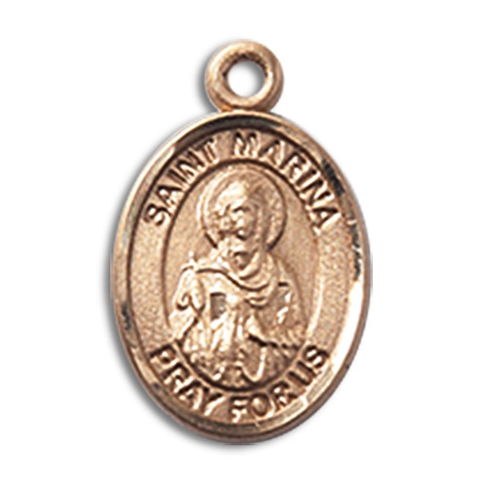Bonyak Jewelry 14kt Yellow Gold St. Marina Medal 1/2 x 1/4 inches