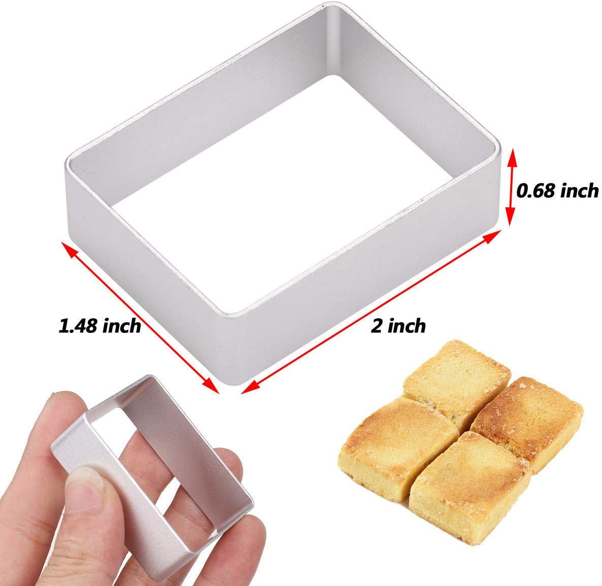 10Pcs Pineapple  Biscuit Cutter Mould Cake Cookies Pastry Mold DIY Baking Tool