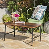Modern Patio Coffee Table with Sleek Industrial Look, Iron Accents, Smooth Finish, Outdoor Furniture, Perfect for Guests, Ideal for Garden, Lawn and Backyard
