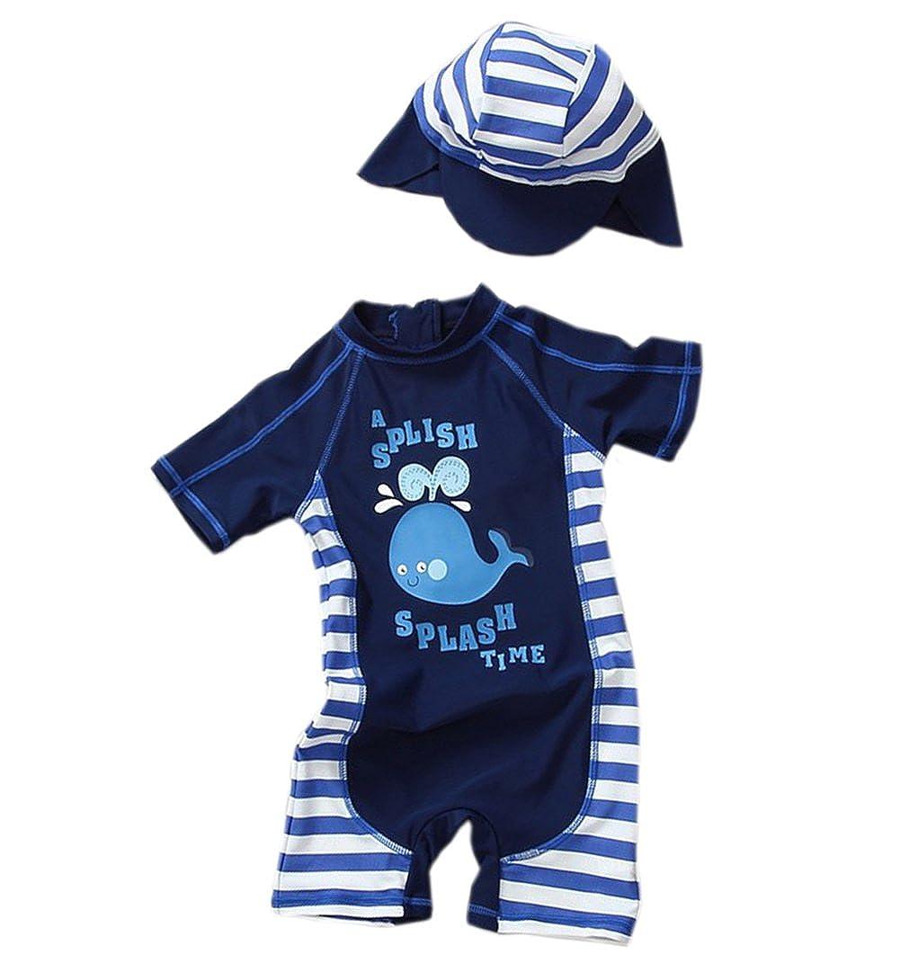 TAIYCYXGAN Baby Toddler Boys One Piece Swimsuit Sunsuit Kids Rash Guards Bathing Suit UV Sun Protective UPF 50+