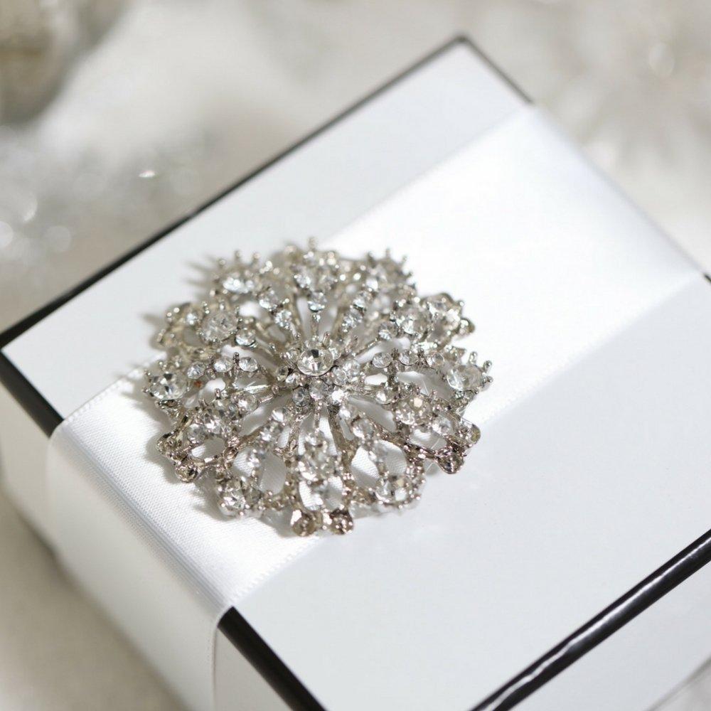 Brooches for Weddings Bulk, 100pcs Rhinestone Brooches 2 inches -Totally Dazzled by Totally Dazzled (Image #6)