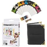 Polaroid 3.5 x 4.25 inch Premium ZINK Photo Paper (20 Sheets) + Colorful Vintage Photo Frames + Photo Album (Compatible With Polaroid POP)