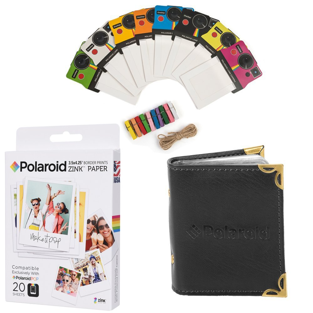 Polaroid Pop 3.5 X 4.25 Zink Border Print (20 Hojas) Bundle