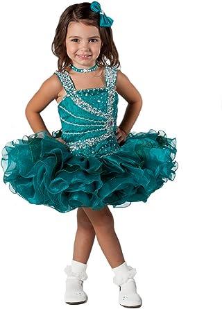 Aisha Baby Girls Sequins Toddler Beads Mini Cupcake Pageant Dress