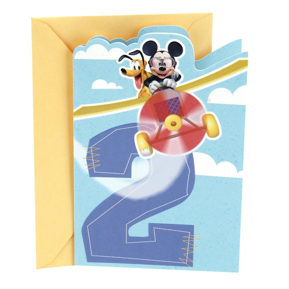 Amazon Mickey Mouse 2nd Birthday Card Office Products