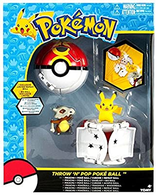 Pokemon Throw 'n' Pop Pokeball Pikachu & Poke Ball / Cubone & Repeat Ball Figure Set