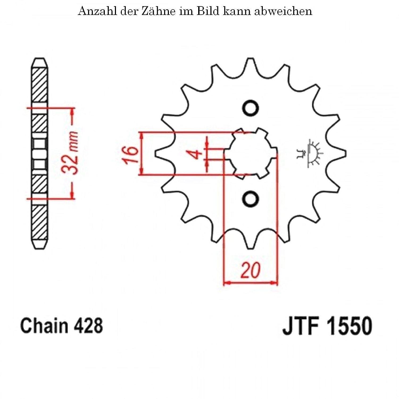 Ritzel 13 Z/ähne f/ür YZF-R 125 Baujahr 2008-2016 von jtSprockets