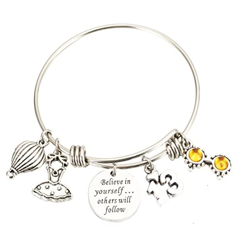 Amazon Birthday Gifts Personalized Bracelet 13th Sweet 16 18th 21st Believe In Yourself Inspiration Jewelry