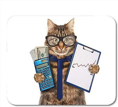 Alfombrillas de ratón Contador Carpeta de Gatos Divertidos para presentaciones Dinero en Mano Calculadora de escenas Alfombrilla para computadora ...