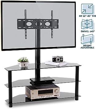 Amazon Com Rfiver Corner Floor Tv Stand With Swivel Mount For