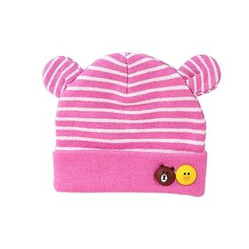 Scrox Linda Gorras para bebé Nuevo bebé recién Nacido Sombreros de algodón Cálido otoño Invierno recién Nacido Sombrero del otoño y del Invierno del bebé ...