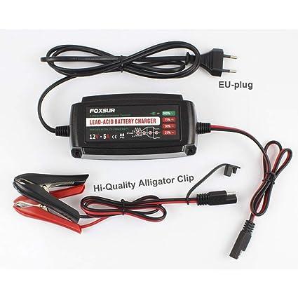 Dishykooker 12V 5A Cargador de batería de Coche de 4 etapas ...