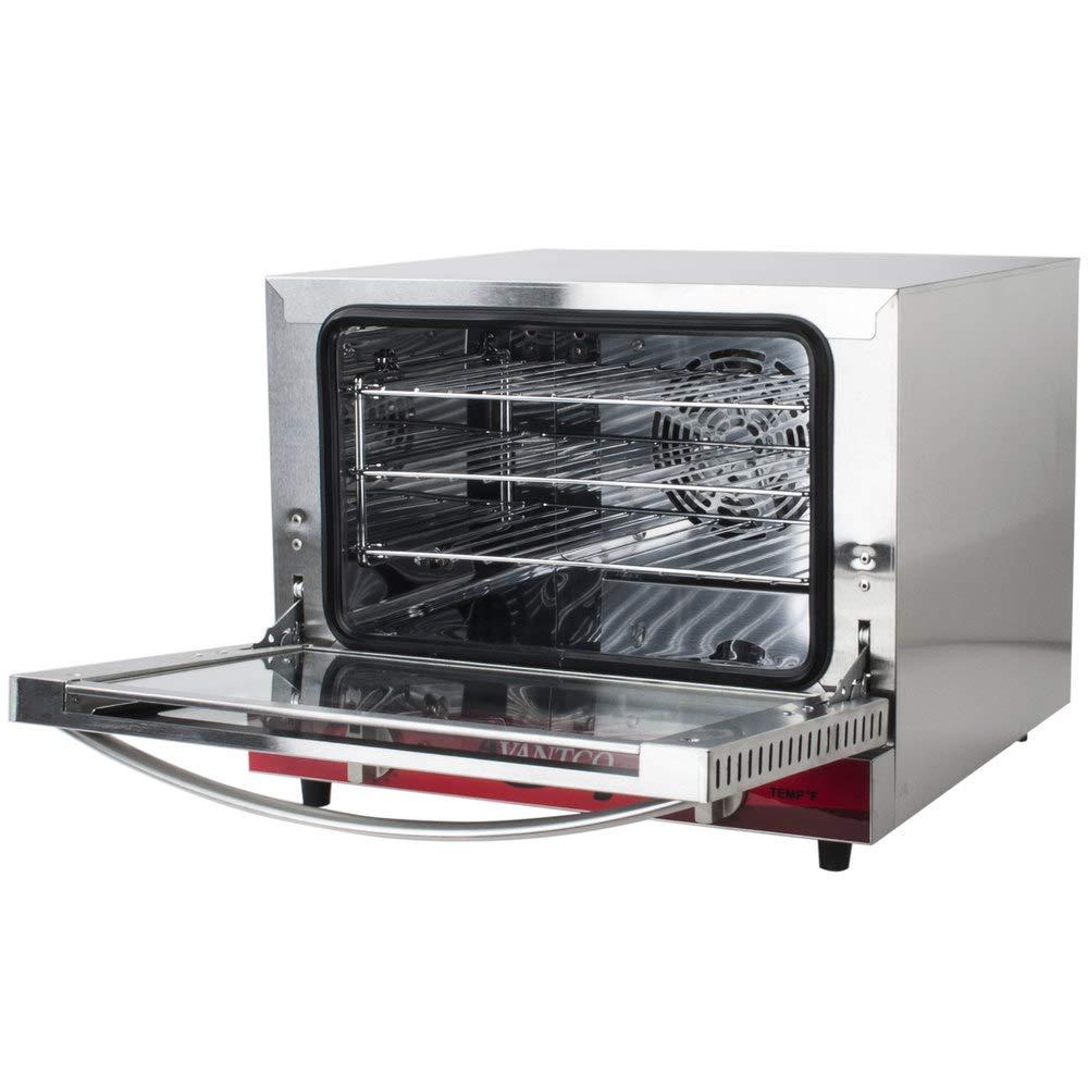 Avantco CO-14 Quarter Size Commercial Countertop Convection Oven Counter Top, 0.8 Cu. Ft. - 120V, 1440W