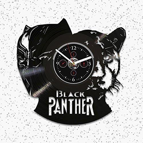 Black Panther Vinyl Wall Clock, Gift Black Panther, Wall Clock Vintage, Marvel Comics Clock, Black Panther Gift, Birthday Gift Kids, Black Panther Clock, Vinyl Record Wall Clock, Clock Black Panther