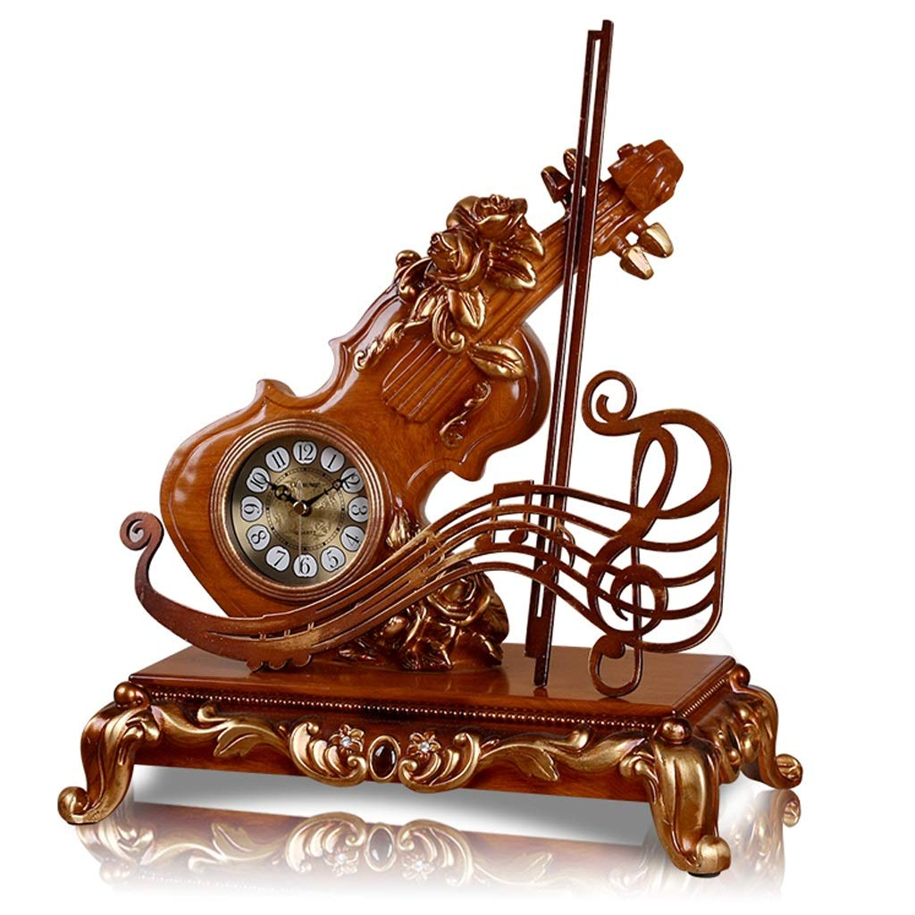 JIAHE115 Jiale European Resin Table Clock-H JCA Creative Decoration Home Decoration Clock Office Learning Clock (13.58×7.48×13.38 Inches)
