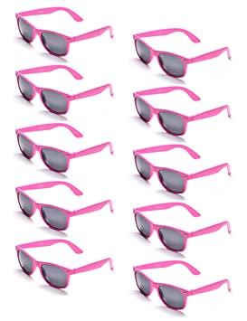 Black 10-pack ONNEA 10 Pairs 80s Party Favors Sunglasses Pack for Kids Adults UV400 Protection