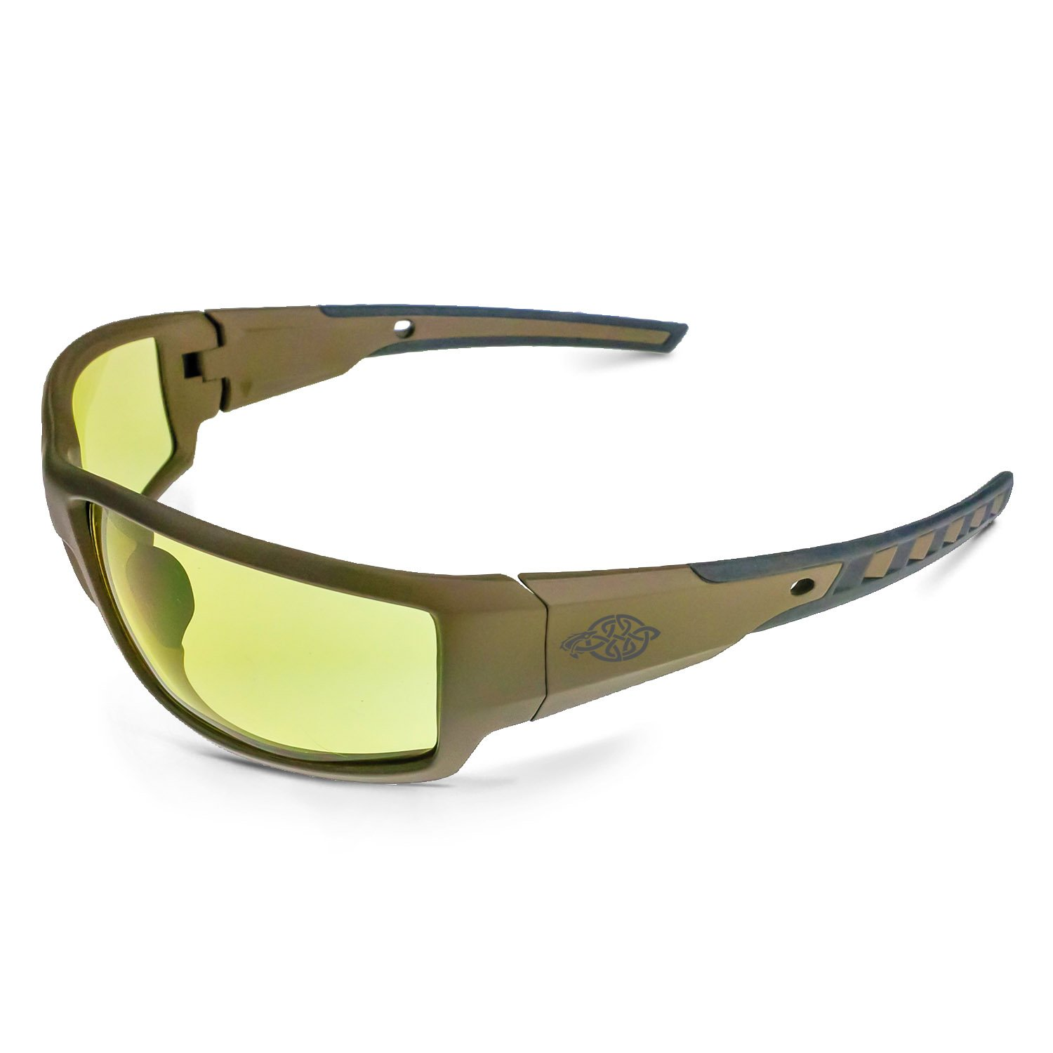 Crossfire Eyewear 41285 Cumulus Safety Glasses with HD Yellow Lens & Aluminum Gray Frame,