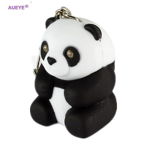 Amazon.com: Cute Panda Llavero sonido juguetes con luz LED ...
