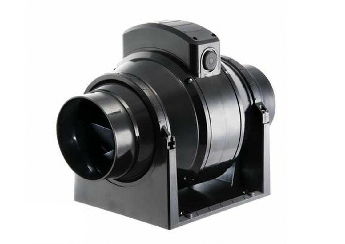 Manrose MF100T Mixed Flow In Line Extractor Fan With Timer (for Use With  100mm / 4 Inch Ducting)