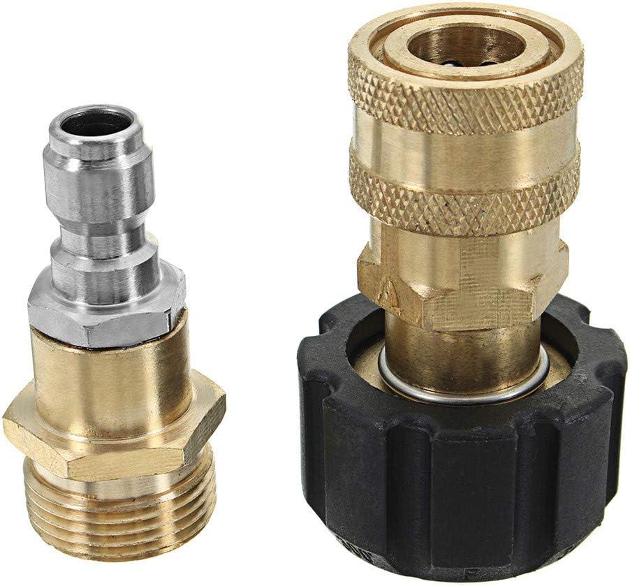 Hochdruckreiniger Adapter Set M22 Gewinded/üse Schnellspanner Trennset Kopf f/ür Hochdruckreiniger Pistole Schlauch