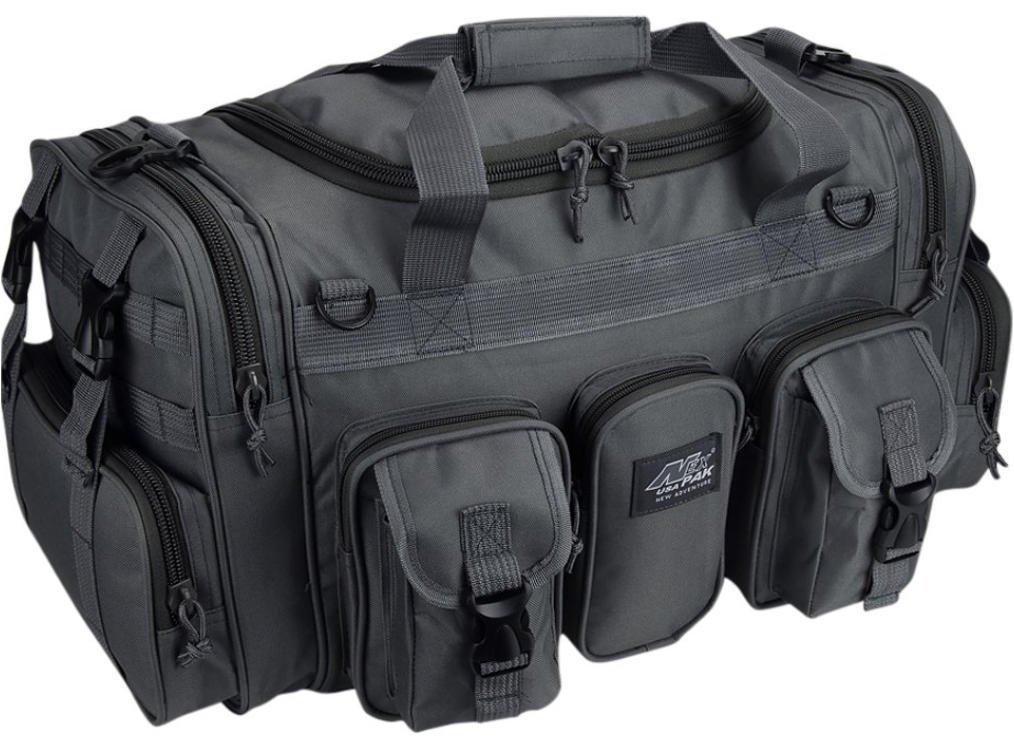 NPUSA Mens Large 22'' Inch Gunmetal Grey Duffel Duffle Military Molle Tactical Gear Shoulder Strap Travel Bag