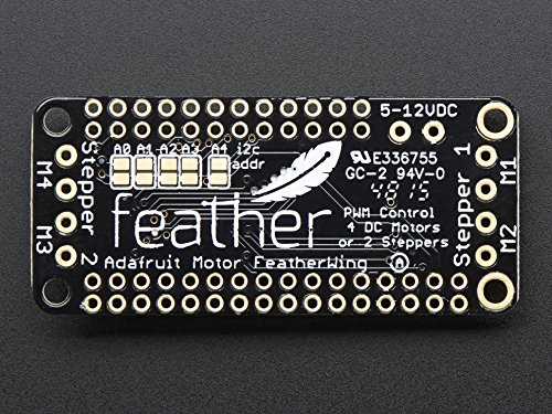 DC Motor and Stepper FeatherWing Add-on For All Feather Boards