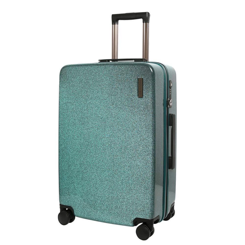 スーツケーストロリー手持ちのキャビン荷物ハードシェルトラベルバッグ軽量4スピナーホイール 42*25*62cm B07T48CBTK Green