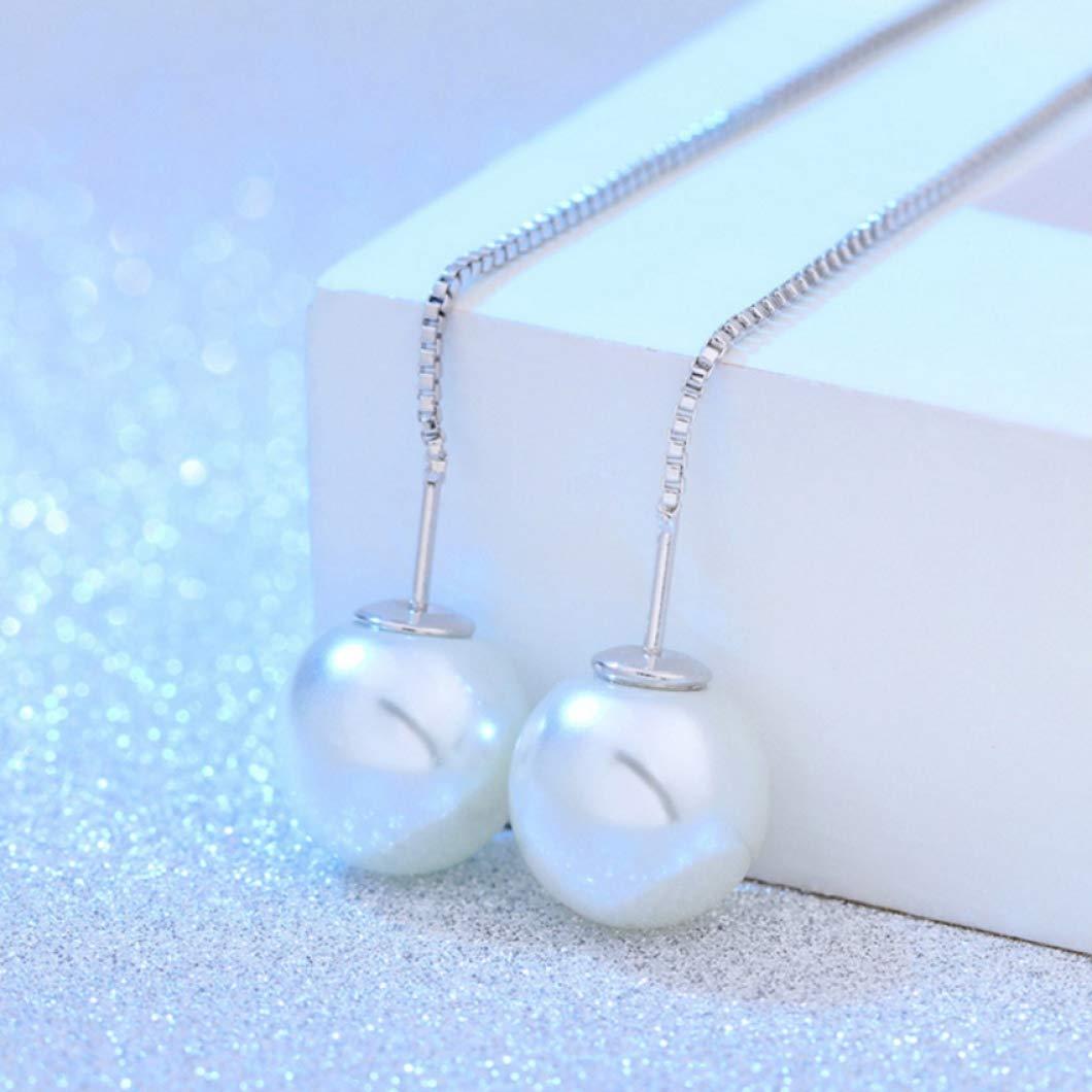 Long Tassel Earrings Jewelry Girls Imitation Pearl Drop Charms Simple Dangles Earrings Long Pendant Earring 12CM