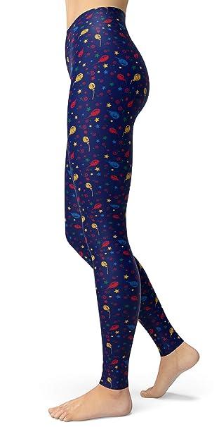 eadd8d8965 lulucheri Women's Printed Leggings Brushed Buttery Soft Ankle Length ...
