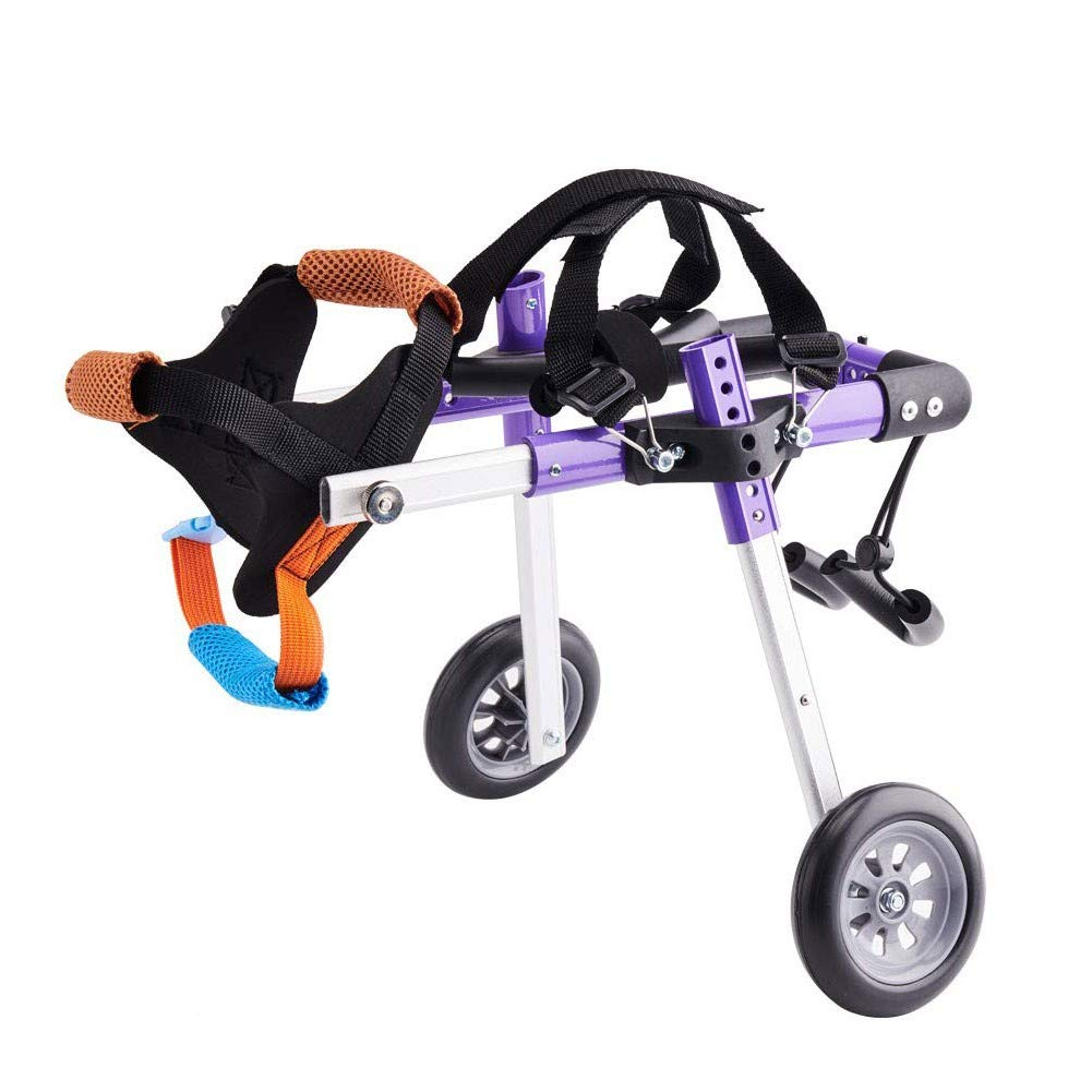 lovecabin Dog Wheelchair for Back Legs, Adjustable, Two Wheels, Hind Legs Rehabilitation, Light Weight, for Handicapped Hind Legs Small Dog Cat/Doggie/Puppy(Less Than 22lbs) by lovecabin