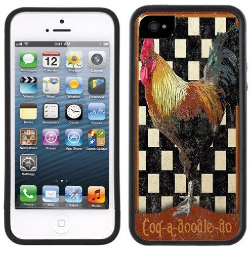 Coq Ancien | Fait à la main | iPhone 5c | Etui Housse noir
