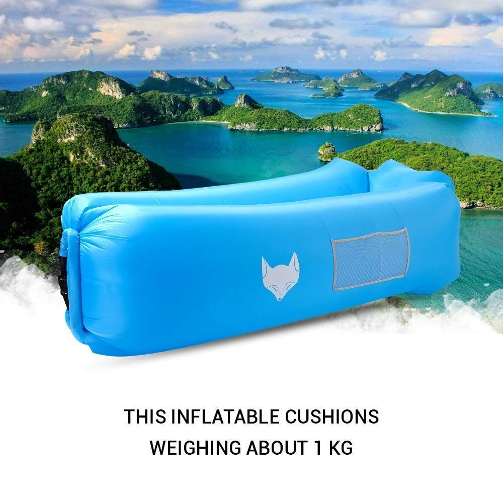 icefox Unisex Adult Waterproof Air Air Sofa Lounger Sleep With Carry Bag for Outdoor Inflatable Bean Bag Chair for Camping Painting by Numbers strand  FIS Blue 0//1 Indoor Sit Back And Relax