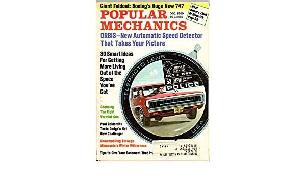 Popular Mechanics Magazine, December 1969, Vol. 132, No. 6: Popular Mechanics: Amazon.com: Books
