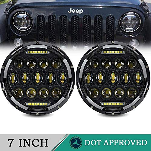 (LED Headlight for Jeep Wrangler AUSI 7