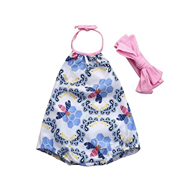 33f8b4aaa44c GreatestPAK Girls 2pcs Floral Print Sleeveless Sets