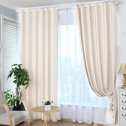 Tenda oscurante, ideale per soggiorno e camera da letto Beige ...