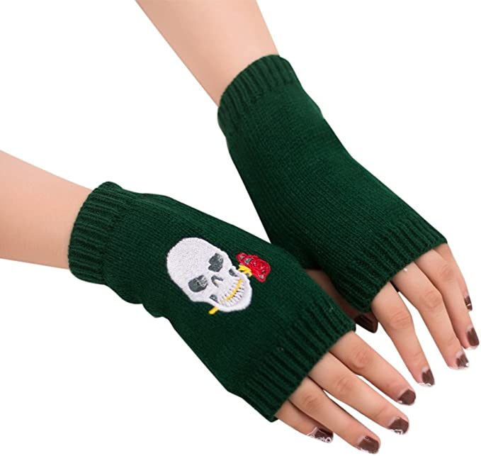 Lemooner Gestrickten Handschuhe Damen Handschuhe Fingerlos Frauen Winterhandschuhe Handschuhe Warme Handschuhe Einfarbig Elegant