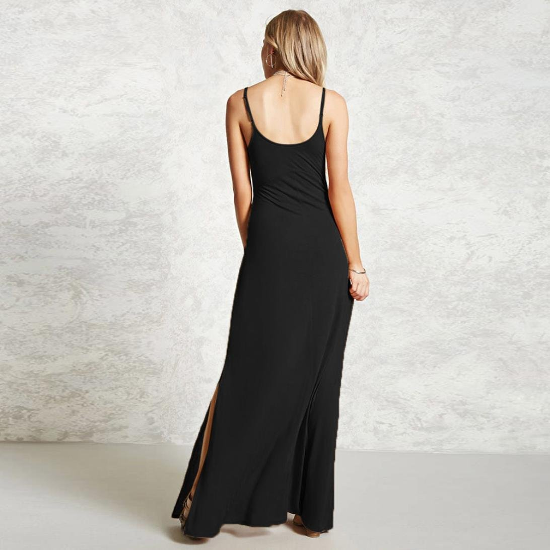 Amazon.com: Evening Party Maxi Dress,Clearance! AgrinTol Women Casual Sleeveless V Neck Solid Evening Party Maxi Dress: Clothing