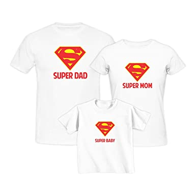 43f72d16 YaYa cafe Mothers Day Super Hero Family T-Shirts for Mom, Dad and Son