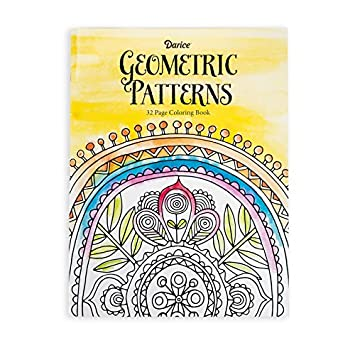 Amazon.com: Darice Geometric Pattern Theme Coloring Books for ...