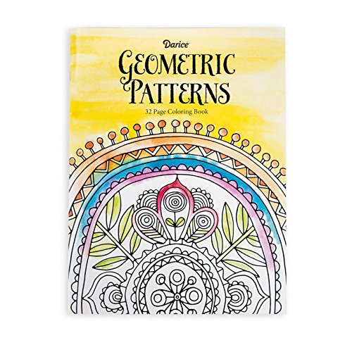 Darice Geometric Pattern Coloring Adults