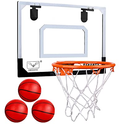 Meland Indoor Mini Basketball Hoop Set for Kids - Basketball Hoop for Door with 3 Balls & Complete Basketball Accessories - Basketball Toy Gifts for Kids Boys Teens: Toys & Games