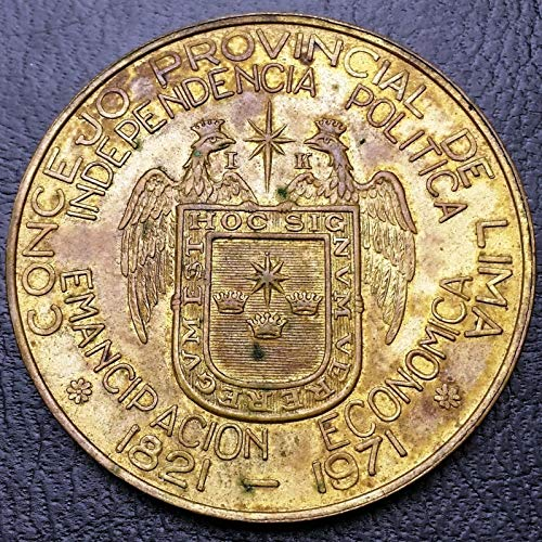 Unbranded 1821 1971 Lima Peru SESQUICENTENNIAL National Independence, Provincial Medal -