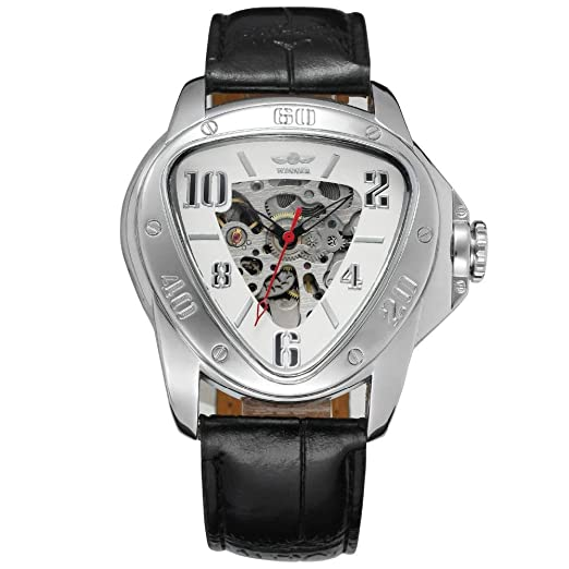 HWCOO Relojes Reloj mecánico automático con Esfera Hueca Triangular T-Winner para Hombres (Color : 2): Amazon.es: Relojes