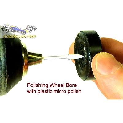 Pinewood Derby PRO Wheel Bore Polishing Kit: Toys & Games