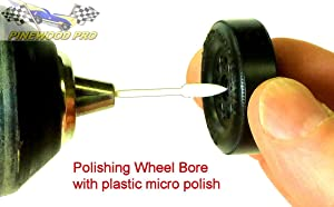 PRO Wheel Bore Polishing Kit with PRO Graphite for use on Pinewood Derby Wheels